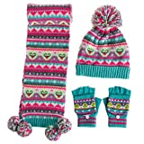 comparativa de conjuntos de gorro bufanda y guantes para niños