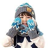 mejores conjuntos de gorro bufanda y guantes para niños